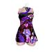 *** Harmonia Purple Flowers Milly Dress - Maitreya