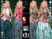V-Twins- Biker Clothes - Sarandonga Blue Version **MESH Outfit [Mesh Bodies Compatible] Maitreya Slink Belleza