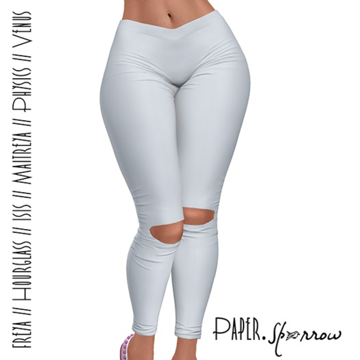 Paper.Sparrow - White - Imogen Yoga Pants