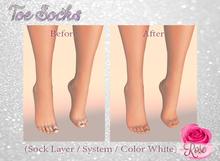 -*Rose*- Toe Socks (White) Modifiable > Bake on Mesh
