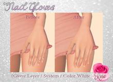 -*Rose*- Nail Gloves (White) Modifiable > Bake on Mesh