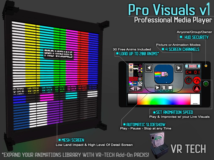 VR-TECH PRO-VISUALS OLED MONSTER SCREEN