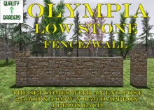 QG Olympia Low Stone Fence / Wall