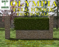 QG Olympia Tall Hedge Fence/ Wall