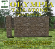 QG Olympia tall stone  fence /wall