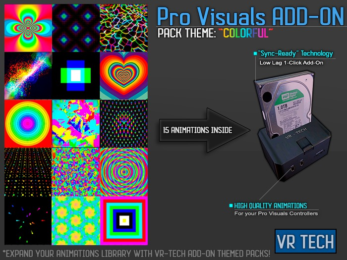 VR-TECH COLORFUL ADD-ON FOR PRO VISUALS