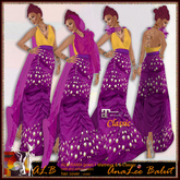 ALB RAMA gown 1 with hair cover - Maitreya & Classic by AnaLee Balut - ALB Dream Fashion
