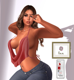 Zee Draped Smexy Top - Red