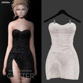 amias - GLITTER dress white