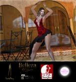 HautePinay Tango Dress [SPANISH ROSES RED]