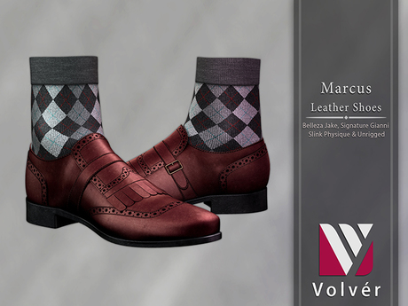 //Volver// Marcus Shoes - Dark Red