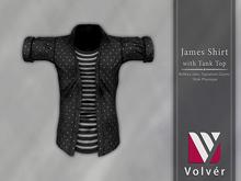 //Volver// James Shirt - Dots Black