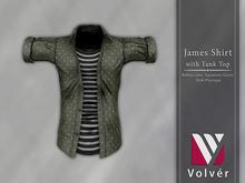 //Volver// James Shirt - Dots Army Green