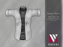 //Volver// James Shirt - Plain White