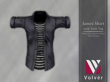 //Volver// James Shirt - Plain Smoke