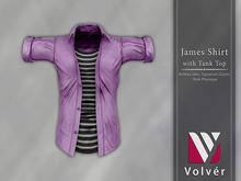 //Volver// James Shirt - Plain Orchid