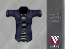 //Volver// James Shirt - Plain Navy