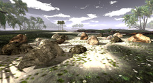 AI Designs Beach Rock Grouping 3