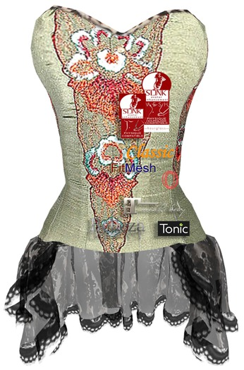 ALB LEELA corset green by AnaLee Balut - SLink Physique & Hourglass, Maitreya, Belleza, Tonic Curvy & Fine, Ocacin