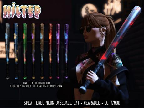 HILTED - Splattered Neon Bat