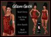 [DB] Glam Goth Skull Dress Outfit with Boots, Jewelry, Maitreya, Belleza, Slink,TMP Maitreya,
