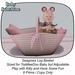 Seagrass Log Basket Pink (ADD)