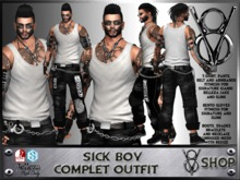 +V8-SICK BOY COMPLET OUTFIT+