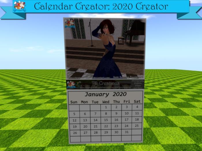 TD Builder Tools - Calendar Creator 2020