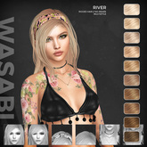 Wasabi // River Mesh Hair - Blonds