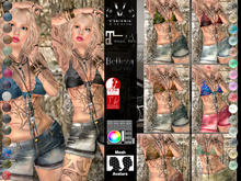 V-Twins- Casual Clothes - Cranky Collection **MESH Outfit [Mesh Bodies Compatible] Maitreya Slink Belleza
