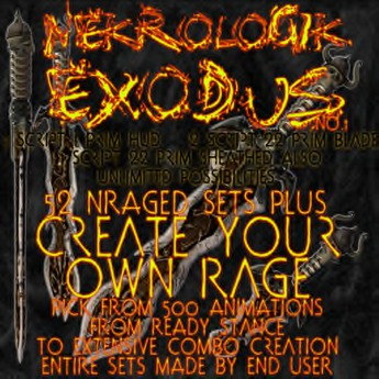 ! NEW ! NekroLogiK Exodus 'Create your own Rage' System 2019 ( swords blade combat system melee weapon fast RP fighting