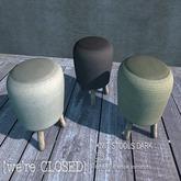 [we're CLOSED] knit stools dark