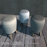 [we're CLOSED] knit stools light