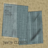 [we're CLOSED] linen rugs blue