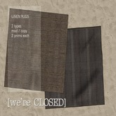 [we're CLOSED] linen rugs brown