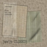 [we're CLOSED] linen rugs neutral