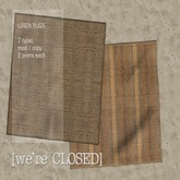[we're CLOSED] linen rugs rust