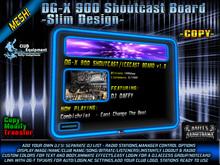 DG-X 900 Shoutcast Board -Slim Design- COPY