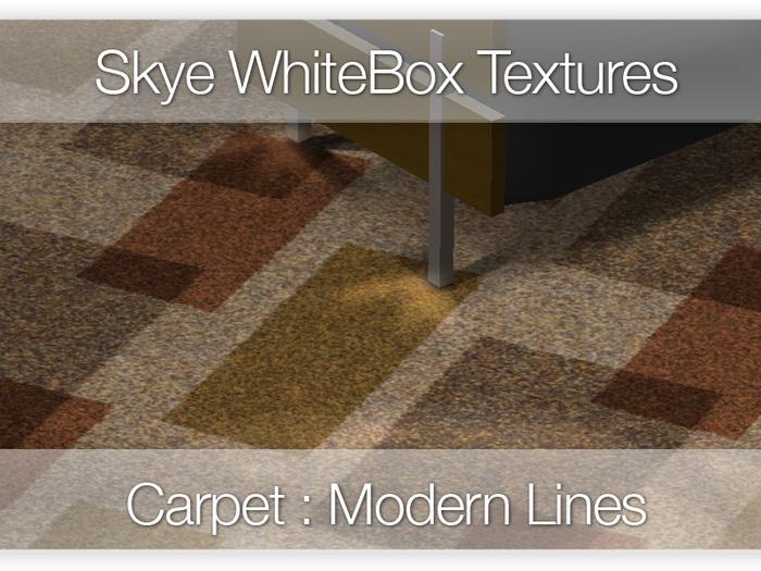 Modern Carpet : Lines - 100 Skye WhiteBox Full Perms Textures