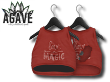 AGAVE - Sunrise Crop Top Pak, Vintage Red