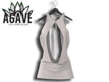 AGAVE - Solaris Drape Dress Pak White