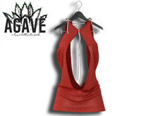 AGAVE - Solaris Drape Dress Pak Vintage Red