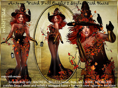 Second Life Halloween 2020 Second Life Marketplace   irrISIStible : HALLOWEEN AUTUMN WITCH