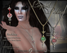~∴~Liquid Potion Necklace - Poison Green & Passion Red (color change)