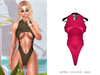 POSIE - Nicki Bodysuit .NEON PINK