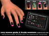 *Sexy Mamas* Geeks & Freaks Manicure - Sculpted Prim Nails - Goth Nails - Techy Nails