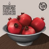 Schadenfreude Pomegranates in Kore Bowl