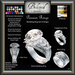 Beloved Jewelry : Passion Engagement Wedding Rings Bento Set-Texture Change (Platinum, Gold, Diamond) 3 Ring Set