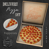 Vintage Touch Delivery Pizza Set (Pepperoni)