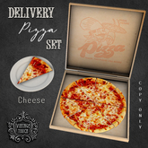 Vintage Touch Delivery Pizza Set (Cheese)